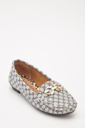 Front Detail Slip On Moccasin Shoes