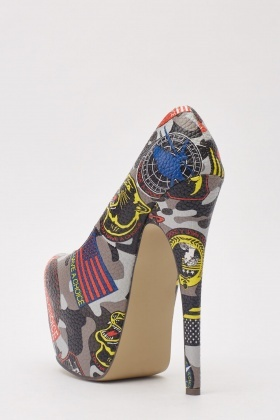 Printed Platform Shoes