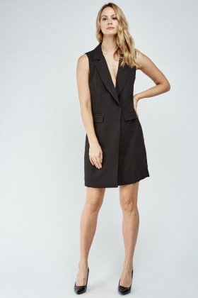 Sleeveless Double Breasted Blazer Dress