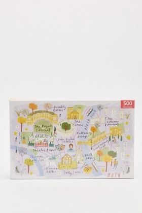 Bath Map 500 Piece Puzzle