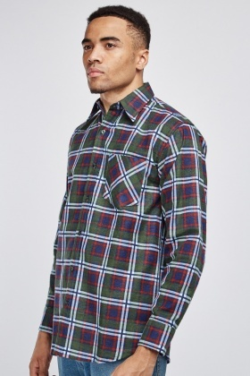Collared Plaid Shirt
