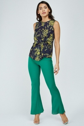 Ruched Floral Print Top