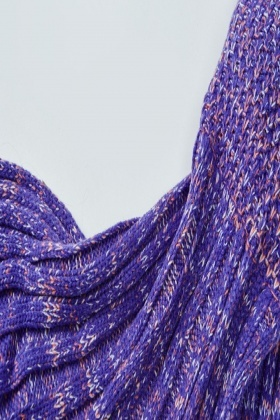 Speckled Violet Knit Mermaid Blanket