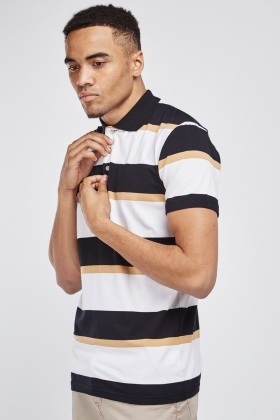 Striped Contrasted Polo Top