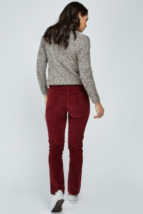 Textured Corduroy Skinny Trousers