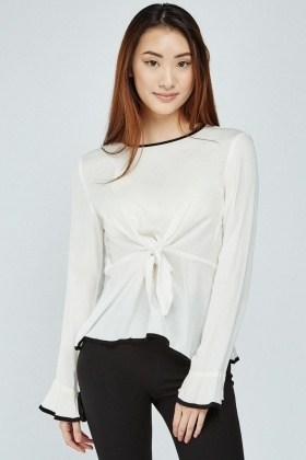 Tie Up Peplum Top