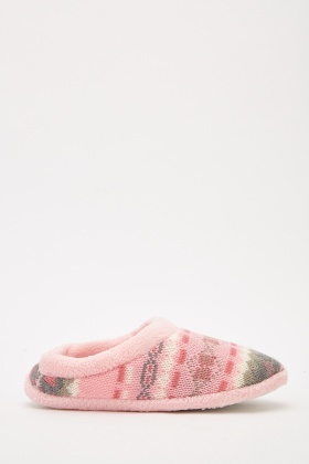 Fluffy Printed Slip-On Slippers