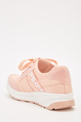Lace Up Contrasted Trainers