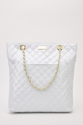 PVC Quilted Tote Bag