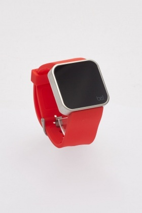 Buckle Strap Touch To Activate Digital Watch