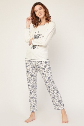 Mixed Printed Pyjama Set