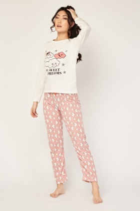 Novelty Print Pyjama Set