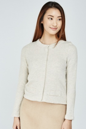 Textured Long Sleeve Cardigan