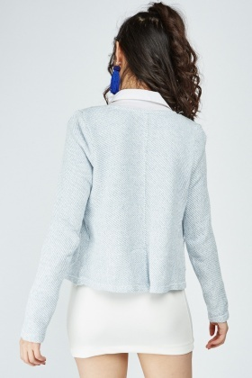 Textured Poppers Front Cardigan