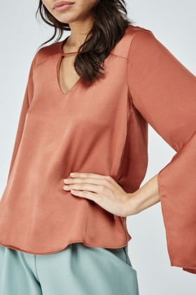 Twisted Cut Out Back Blouse