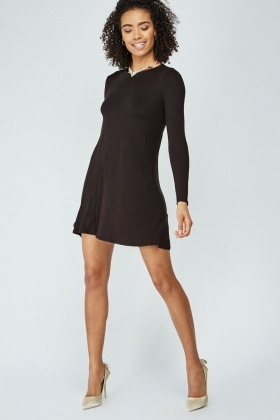 Basic Long Sleeve Tunic Dress