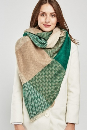 Checkered Weave Scarf