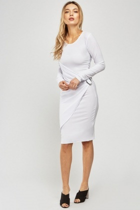 Draped Ruched Wrap Dress