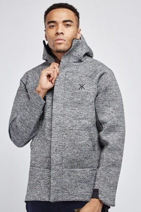 Speckled Scuba Hooded Jacket
