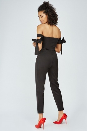 Tie Up Off Shoulder Jumpsuit