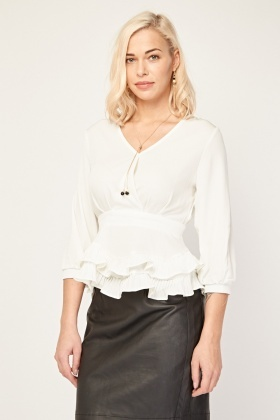Frill Overlay Blouse