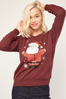 Glittered Santa Claus Sweatshirt