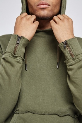 Pouch Pocket Front Basic Hoodie