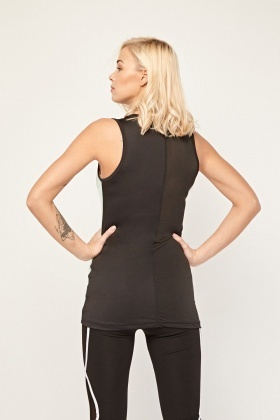 Sleeveless Mesh Back Sports Top