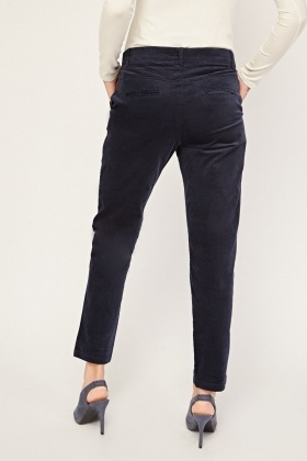 Straight Cut Corduroy Trousers