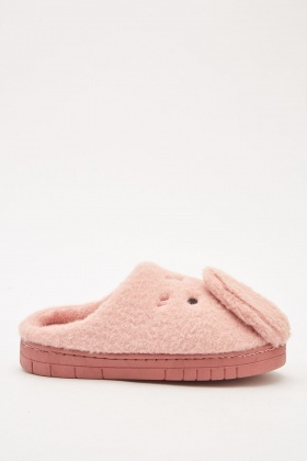 Bunny Front Detail Slippers