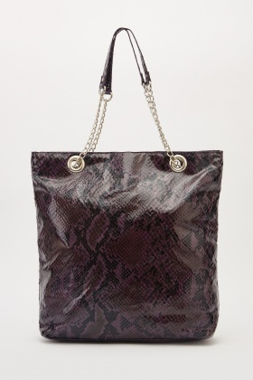 Large Animal Print Handbag