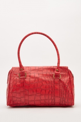 Mock Croc Duffel Bag