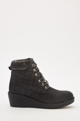 Quilted Ankle Boots