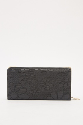 Textured Flower Print Purse