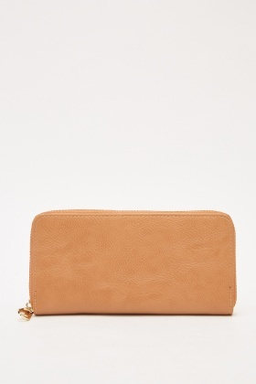 Zip Up Textured Purse