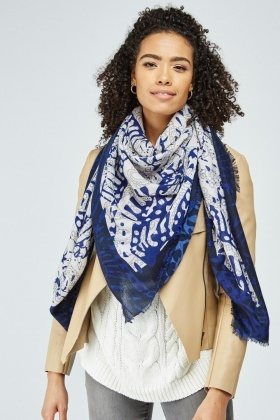 All Over Mix Pattern Scarf