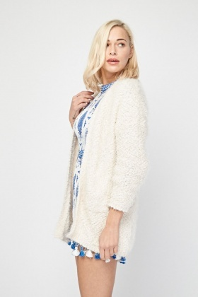 Bobble Eyelash Knit Cardigan