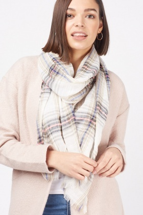 Checkered Sheer Scarf
