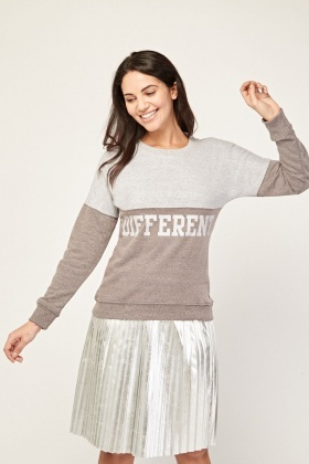 Colour Block Printed Sweatshirt