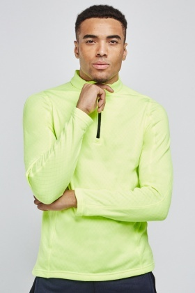Diamond Pattern Neon-Lime Pullover