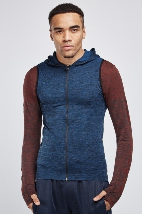 Sleeveless Hooded Sports Top