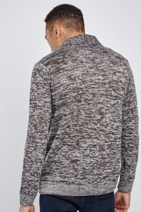 Speckled Wrap Neck Line Jumper