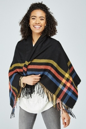 Contrasted Plaid Scarf