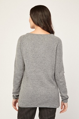 Crew Neck Sheer Knit Top