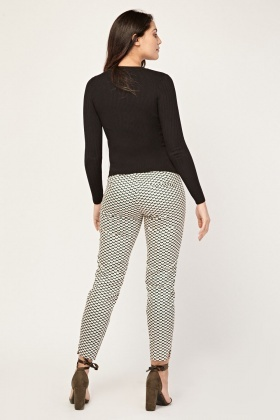 Geoprint Slim Fit Trousers