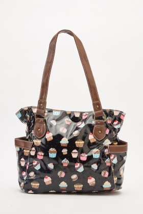 Cupcake Printed Hobo Bag