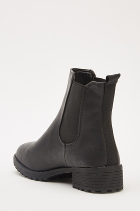 Elastic Side Ankle Boots