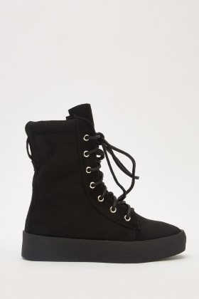 High Top Faux Suede Trainers