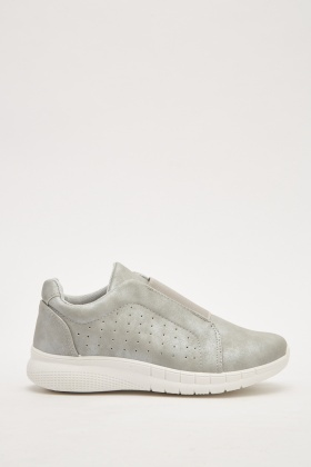 Metallic Slip-On Trainers