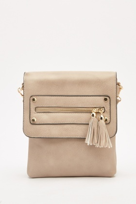Textured Tassel Detailed Bag